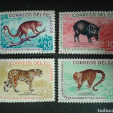 Briefmarken - ECUADOR. YVERT 680/3. SERIE COMPLETA NUEVA CON CHARNELA. FAUNA. - 106650587