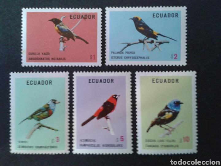 ECUADOR. YVERT 898/902. SERIE COMPLETA NUEVA CON CHARNELA. FAUNA. AVES. (Sellos - Extranjero - América - Ecuador)