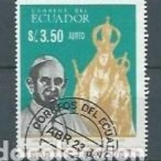 Sellos: ECUADOR,PABLO VI,1966,USADO,YVERT 461. Lote 125248399