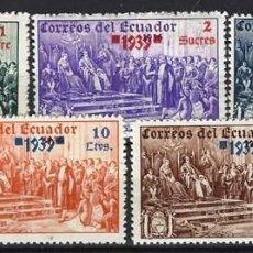 Sellos: ECUADOR / COLON - SELLOS NUEVOS CON CHARNELA - SERIE COMPLETA SOBRECARGADA. Lote 126347259