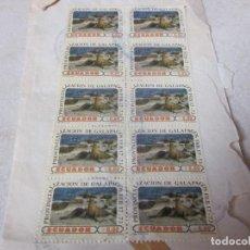 Sellos: 12 SELLOS USADOS ECUADOR AÑOS 70 - PROVINCIALIZACION DE GALAPAGOS Y PIQUERO DE PATAS AZULES. Lote 135993498