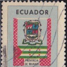 Sellos: 1970 - ECUADOR - MANABI - ESCUDO Y BANDERA - YVERT PA 512. Lote 149861718