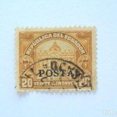 Sellos: SELLO POSTAL ECUADOR 1928, 20 C, CASA DE CORREOS , OVERPRINT EN NEGRO, USADO. Lote 155190182