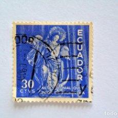 Sellos: SELLO POSTAL ECUADOR 1959, 30 CTS, ARTE COLONIAL QUITO, CONMEMORATIVO, USADO. Lote 155190514