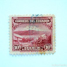 Sellos: SELLO POSTAL ECUADOR 1944, 10 C, MONTE CHIMBORAZO, USADO. Lote 155192174