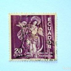 Sellos: SELLO POSTAL ECUADOR 1959, 20 C, ARTE COLONIAL QUITO, CONMEMORATIVO, USADO. Lote 155195590