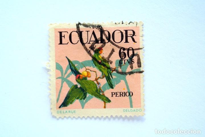 SELLO POSTAL ECUADOR 1958, 60 C, PERICO, USADO (Sellos - Extranjero - América - Ecuador)