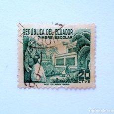 Sellos: SELLO POSTAL ECUADOR 1952, 20 CTVS., TIMBRE ESCOLAR , USADO. Lote 155496658