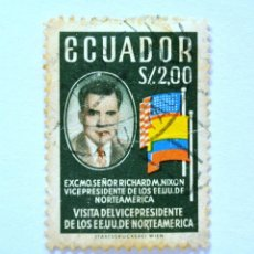 Sellos: SELLO POSTAL ECUADOR 1958, 2 S/., VISITA DEL VICEPRESIDENTE DE E.E.U.U. RICHARD M. NIXON, USADO. Lote 155512022