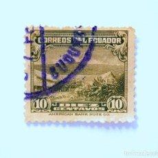 Sellos: SELLO POSTAL ECUADOR 1934, 10 CTVS, MONTE CHIMBORAZO, USADO. Lote 155515334