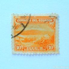 Sellos: SELLO POSTAL ECUADOR 1934, 10 CTVS., MONTE CHIMBORAZO, USADO. Lote 155518486