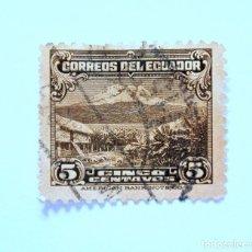 Sellos: SELLO POSTAL ECUADOR 1934, 5 CTVS., MONTE CHIMBORAZO, USADO. Lote 155519006