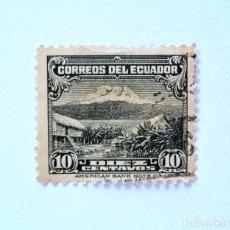Sellos: SELLO POSTAL ECUADOR 1935, 10 CTVS., MONTE CHIMBORAZO, USADO. Lote 155519610