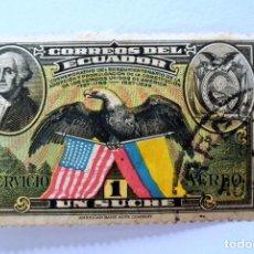 Sellos: SELLO POSTAL ECUADOR 1938, 1 S/.,SESQUICENTENARIO DE LA COSTITUCION DE LO E.E.U.U., USADO. Lote 155544434