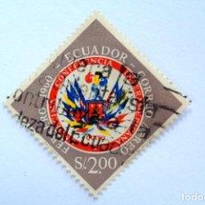 Sellos: SELLO POSTAL ECUADOR 1960, 2 S/., UNDECIMA CONFERENCIA INTERAMERICANA QUITO 1960, USADO. Lote 155545806