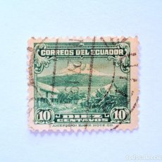 Sellos: SELLO POSTAL ECUADOR 1934, 10 CTVS ,MONTE CHIMBORAZO, USADO. Lote 155556250