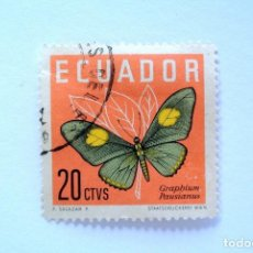Sellos: SELLO POSTAL ECUADOR 1961, 20 CTVS . GRAPHIUM PAUSIANUS, USADO. Lote 156752450
