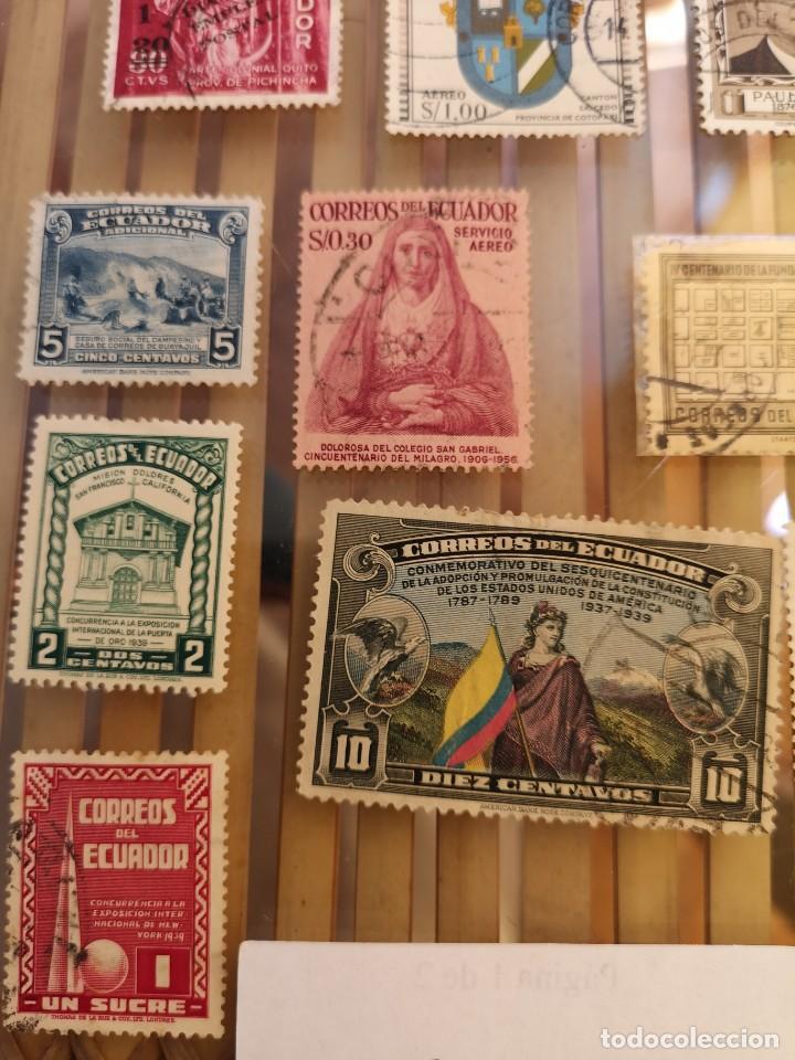 Sellos: LOTE DE ANTIGUOS SELLOS DE ECUADOR ,NO SE DESCOMPLETA EL LOTE - Foto 2 - 158665910