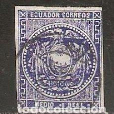 Sellos: ECUADOR.1865-72. YT 1. Lote 158929534