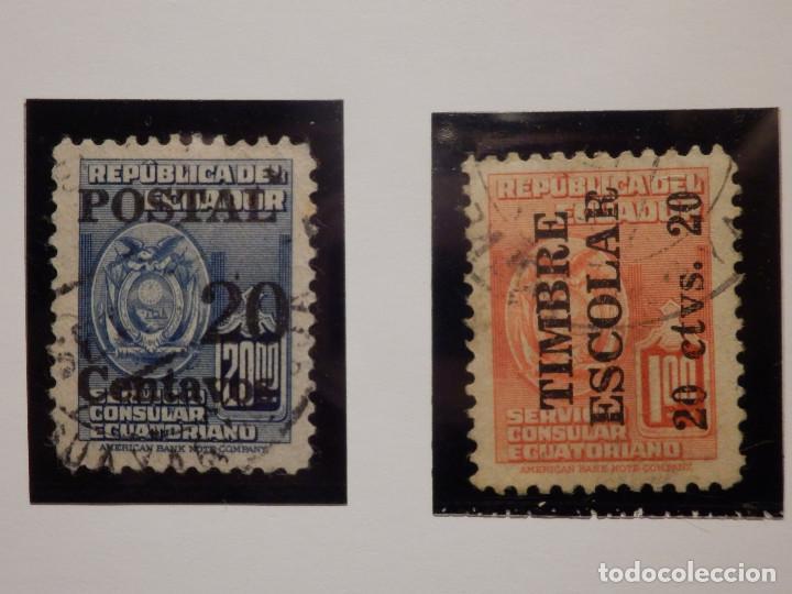 Sellos: COLECCIÓN - LOTE 22 SELLOS ANTIGUOS DE ECUADOR - AÑOS 40´S,50´S - ALGUNOS NUEVOS - Foto 3 - 165136114