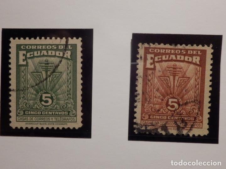 Sellos: COLECCIÓN - LOTE 22 SELLOS ANTIGUOS DE ECUADOR - AÑOS 40´S,50´S - ALGUNOS NUEVOS - Foto 5 - 165136114