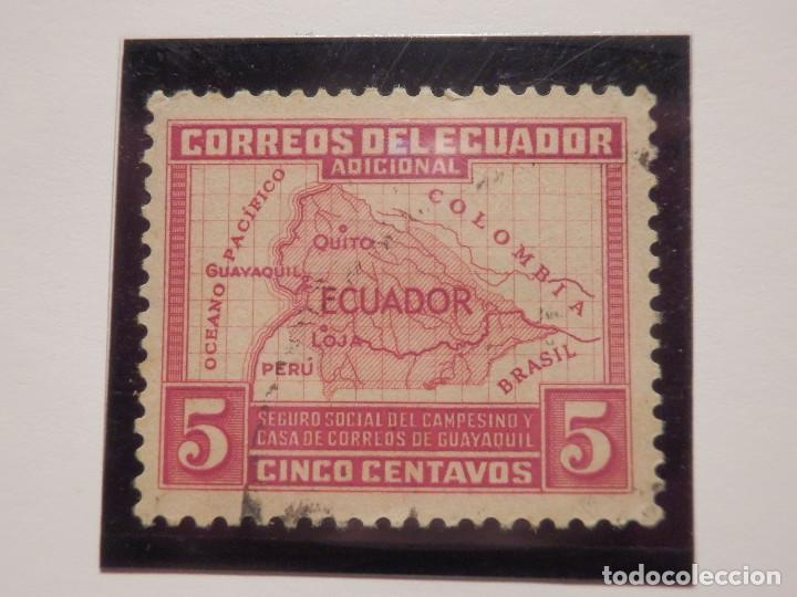 Sellos: COLECCIÓN - LOTE 22 SELLOS ANTIGUOS DE ECUADOR - AÑOS 40´S,50´S - ALGUNOS NUEVOS - Foto 8 - 165136114