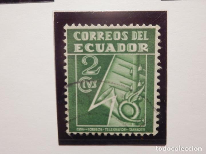 Sellos: COLECCIÓN - LOTE 22 SELLOS ANTIGUOS DE ECUADOR - AÑOS 40´S,50´S - ALGUNOS NUEVOS - Foto 15 - 165136114