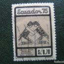 Sellos: ECUADOR,1975 JUEGOS DEPORTIVOS ECUATORIANOS. Lote 168791992