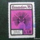 Sellos: ECUADOR, 1975 JUEGOS DEPORTIVOS ECUATORIANOS, CORREO AEREO. Lote 168797468
