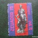 Sellos: ECUADOR, 1975 SEBASTIAN DE BANALCAZAR,FUNDADOR DE QUITO, CORREO AEREO. Lote 168798176