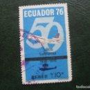 Sellos: ECUADOR, 1976 50 AÑOS DE LUFTHANSA, CORREO AEREO. Lote 168798696