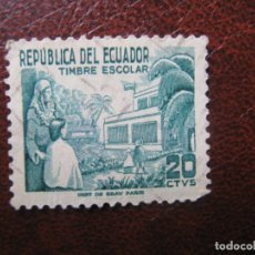 Sellos: ECUADOR, 1952 A FAVOR DE LA ENSEÑANZA, YVERT 554. Lote 170550628