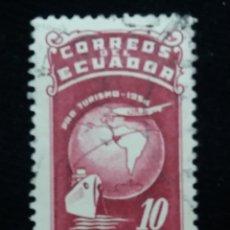 Sellos: CORREO ECUADOR, 10 CENTAVOS, PRO TURISMO, 1954. Lote 180130206