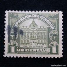 Sellos: CORREO ECUADOR, 1 CENTAVOS, CASA CORREOS , 1928.. Lote 180130473