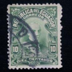 Sellos: CORREO ECUADOR, 10 CENTAVOS, GARCIA MORENO, 1911.. Lote 180130571