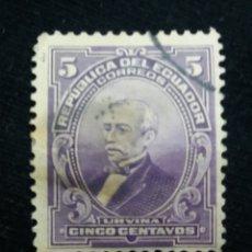 Sellos: CORREO ECUADOR, 5 CENTAVOS, URVINA, 1915.. Lote 180130681