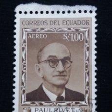 Sellos: CORREO ECUADOR, S,1.00, PAUL RIVET, 1958.. Lote 180131200