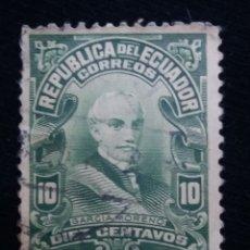 Sellos: CORREO ECUADOR, 10 CENTS, GARCIA MORENO,1950.. Lote 180131895