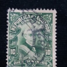 Sellos: CORREO ECUADOR, 10 CENTS, GARCIA MORENO,1950.. Lote 180131948