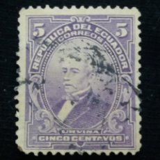 Sellos: CORREO ECUADOR, 5 CENTS, URVINA,1915.. Lote 180132128