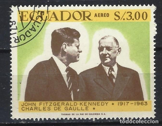 ECUADOR 1967 - 50 ANIVERSARIO NACIMIENTO DE J.F.KENNEDY, AÉREO - SELLO USADO (Sellos - Extranjero - América - Ecuador)