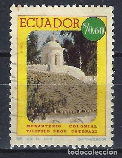 ECUADOR 1975 - MONASTERIO COLONIAL TILIPULO - SELLO USADO (Sellos - Extranjero - América - Ecuador)