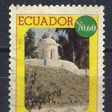 Sellos: ECUADOR 1975 - MONASTERIO COLONIAL TILIPULO - SELLO USADO. Lote 185920258