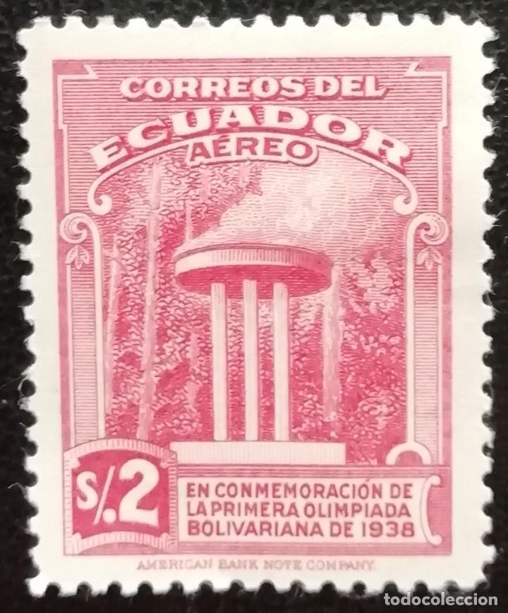 1939. ECUADOR. 71. PEBETERO ENCENDIDO. CONMEMORACIÓN PRIMERA OLIMPÍADA BOLIVARIANA DE 1938. USADO. (Sellos - Extranjero - América - Ecuador)