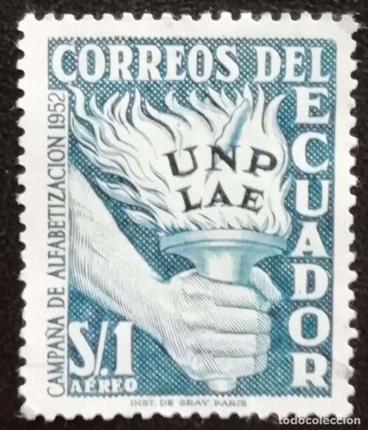 1952. ECUADOR. 241. CAMPAÑA DE ALFABETIZACIÓN. ANTORCHA DEL SABER. USADO. (Sellos - Extranjero - América - Ecuador)