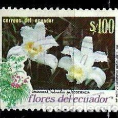 Sellos: ECUADOR SCOTT: 1254-(1990) (FLORES) USADO. Lote 189518003