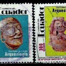 Sellos: ECUADOR SCOTT: 1269/70-(1991) (ARQUEOLOGIA, CULTURA LA TOLITA) USADO. Lote 189518157
