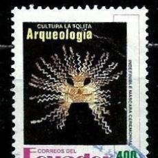 Sellos: ECUADOR SCOTT: 1291-(1992) (MÁSCARA CEREMONIAL) USADO. Lote 189518228
