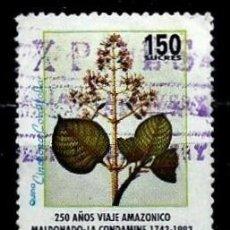 Sellos: ECUADOR SCOTT: 1320-(1993) (ÁRBOL DE QUINA) USADO. Lote 189518606
