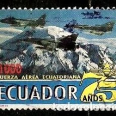 Sellos: ECUADOR SCOTT: 1384-(1995) (FUERZA AEREA ECUATORIANA, 75º) USADO. Lote 189518971